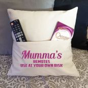 Mum Personalised Pocket Pillow Ivory Cover
