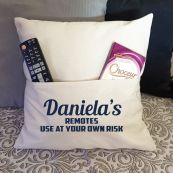 Personalised Pocket Pillow Ivory Cover