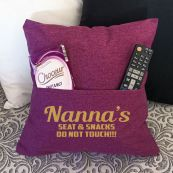 Nana Personalised Pocket Reading Pillow Cover Plum