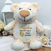Personalised Baby Memorial Guardian Angel Cubbie Bear Plush