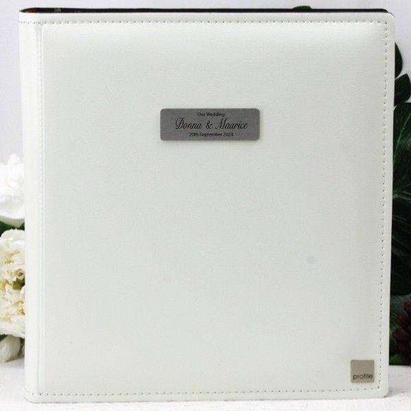 Personalised Wedding Albums Albums Personalised Drymount Wedding Photo Album White