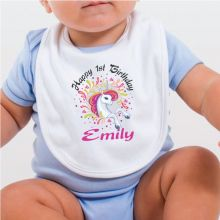 Personalised 1st Birthday Bib - Unicorn