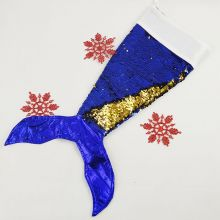 Mermaid Tail Sequin Christmas Stocking - Blue