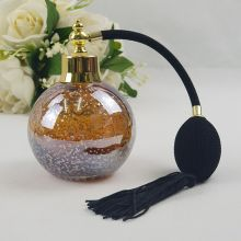 Amber Gold Fleck Perfume Bottle