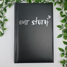 Our Story Photo Album 300 Photos Black