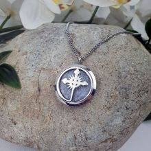 Aromatherapy Oil Diffuser Pendant Necklace - Cross