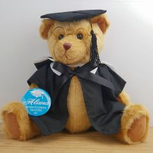 Graduation Teddy Bear 35cm Jointed with Personalised Badge
