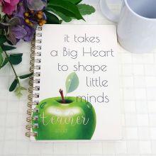Best Teacher Ever Journal & Pen - Big Heart