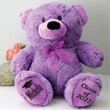 Graduation Personalised Teddy Bear 40cm Plush Lavendar