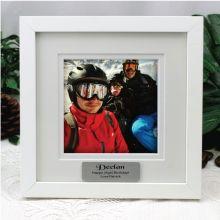 Personalised Birthday Instagram Photo Frame 5x5 White/Black Wood