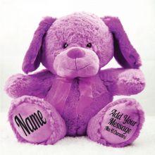 Personalised 40cm Sam the Dog - Purple