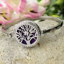 Aromatherapy Perfume Oil Diffuser Bracelet - Crystal Tree