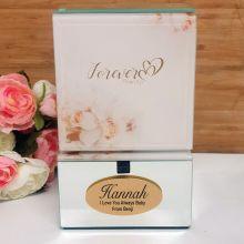 Forever Always Personalised Mirrored Trinket Box