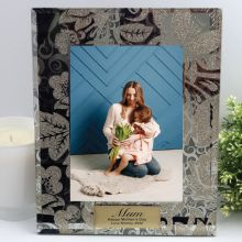 Personalised Mum 5x7 Photo Frame Golden Glitz