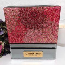Coach Mirrored Jewellery Box Pink Passion