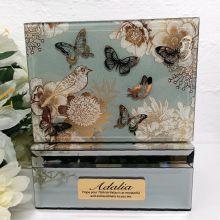 70th Vintage Gold Glass Trinket Box