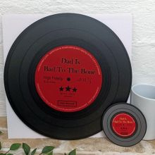 Dad Replica Vinyl Record LED Wall Hanging & Coaster - Bad To Bone