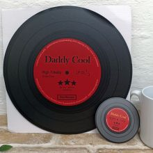 Dad Replica Vinyl Record LED Wall Hanging & Coaster - Daddy Cool