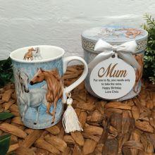 Mum Mug with Personalised Gift Box - Horse
