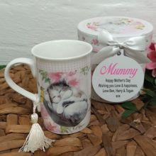Mum Mug with Personalised Gift Box - Cats
