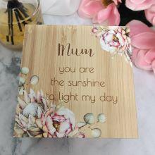 Mum Wood  Trinket Box Bunch of Joy