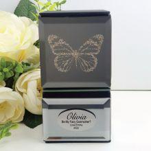 Godmother Mini Mirrored Trinket Box - Butterfly