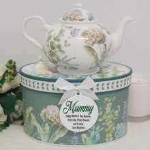 Teapot in Personalised Mum Gift Box - Hydrangea