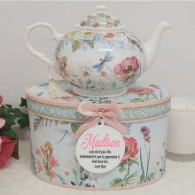 Teapot in Personalised Gift Box - Poppy