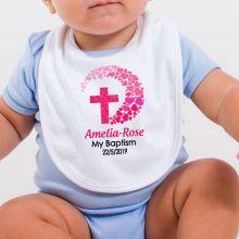 Personlised Baby Girl Baptism Bib
