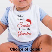 Personalised Christmas Baby Bib - Who Needs Santa