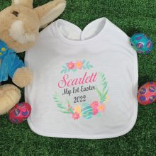 Personalised Easter Bib - Wreath