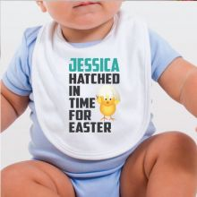 Hatched in Time for Easter Bib - Hatched