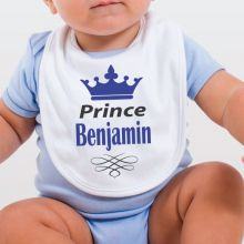 Personalised Prince Baby Bib