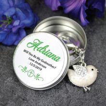 Personalised Godmother Keyring Gift - Bird