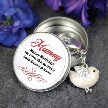 Personalised Mum Keyring Gift - Bird