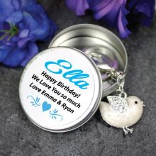 Personalised Keyring Gift - Bird