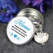 Personalised Nana Keyring Gift - Bird