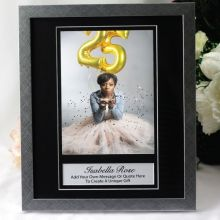 Birthday Personalised Photo Frame 6x8 Black/Silver