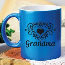 Grandma Personalised Blue Coffee Mug