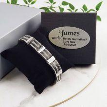 Godfather Bracelet Stainless Steel & Sillicone - Personalized Box