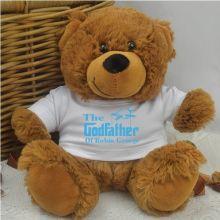 Godfather Personalised Teddy Bear Brown Plush