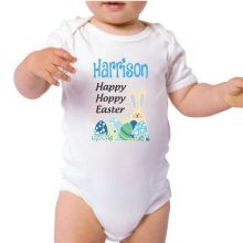 Personalised Happy Easter Bodysuit - Blue
