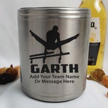 Gymnastic Coach Engraved Silver Stubby Can Cooler Personalised Message
