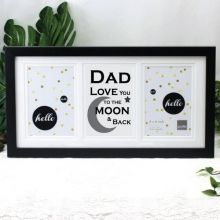 Dad Love You To The Moon Black Gallery Frame