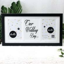 Our Wedding Black Gallery Frame
