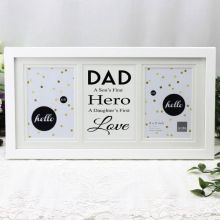 Dad White Gallery Frame - First Love