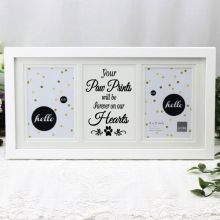 Pet Memorial White Gallery Frame - Paw Prints