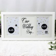 Our Wedding White Gallery Frame