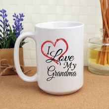 I Love My Grandma 15oz Personalised Coffee Mug