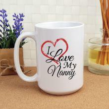 I Love My Nan 15oz Personalised Coffee Mug